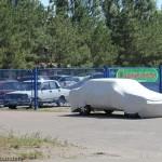 Парковка пансионата Светлана в Мелекино