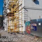 Идет реконструкция фасадов домов в центре