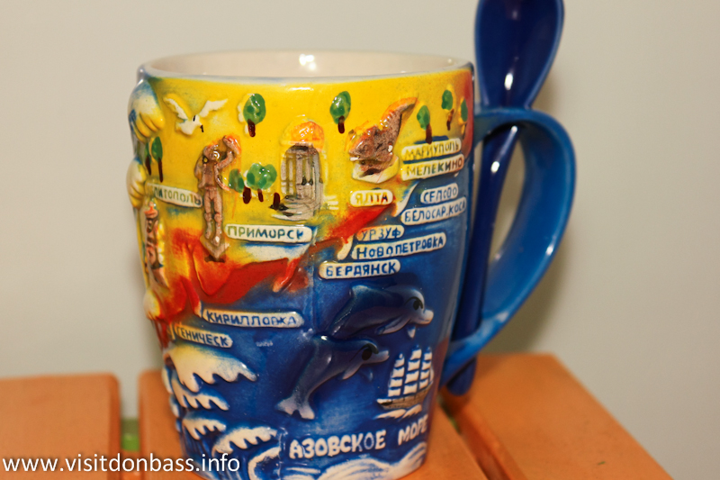 Чашка с надписью Мелекино или Белосарайская коса - уже не экзотика!