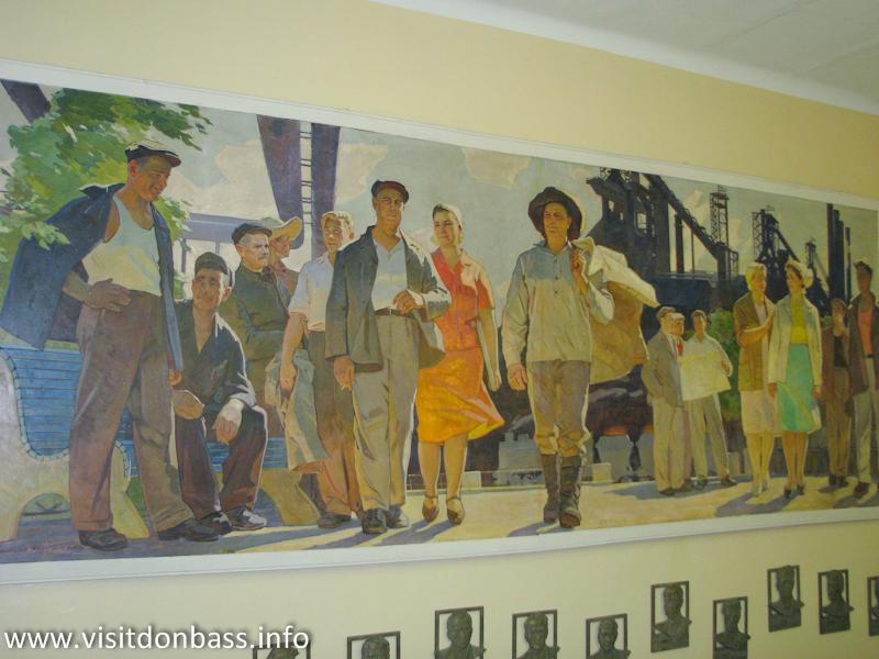 Художественная панорама завода в Музее ЕМЗ