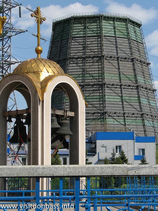 Колокольня Храма святителя Игнатия Мариупольского в ДМЗ