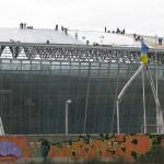 Фасад стадиона почти готов, подрядчики приводят в порядок крышу, Донбасс Арена, осень 2008