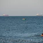 Из окон Азовья и с пляжа открывается прекрасный вид на Азовское море