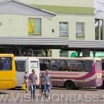 Большая часть рейсов выполняется автобусами средней вместимости, Южный автовокзал Донецк