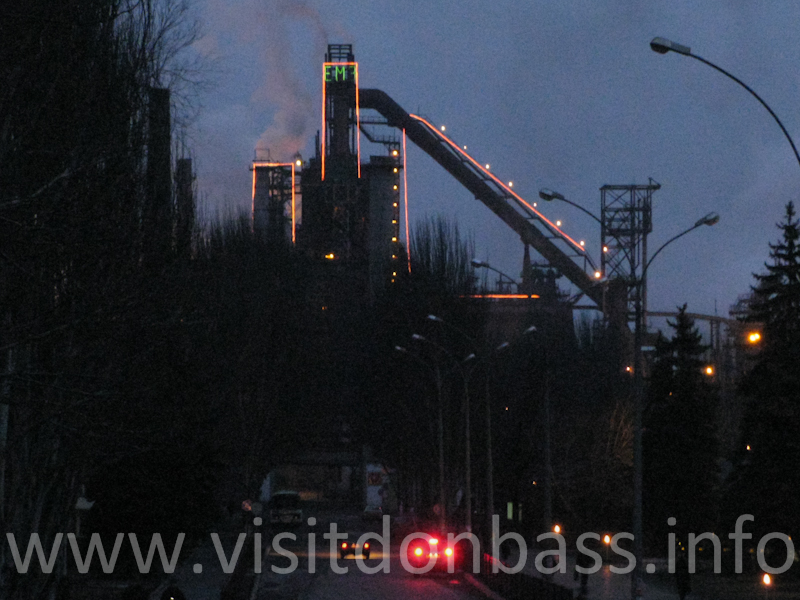 Домна в темноте Енакиевский МЗ Енакиево Донецкая область