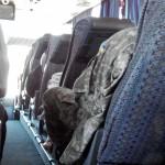 Солдат в автобусе Мариуполь-Запорожье
